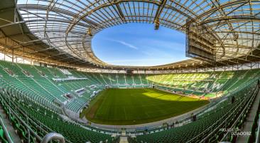 Stadion piłkarski w wrocławiu.