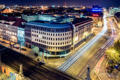 Wrocław nocą - piękny widok miasta.