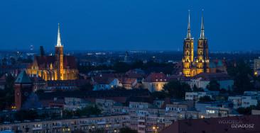 Zdjęcie z lotu ptaka miasto wrocławia.